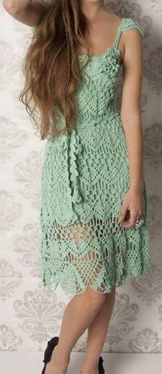 Tina's handicraft : summer crochet dress with straps