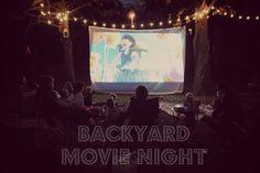 Living on Love: Backyard Movie Night Birthday Party