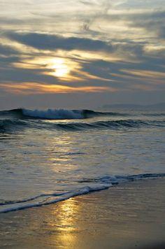 waves at dusk...