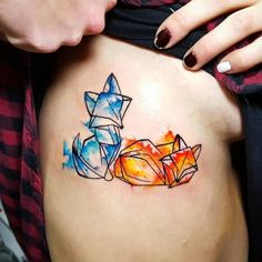 46 Adorable Fox Tattoo Designs and Ideas – Page 3 of 4 - diy tattoo images Tattoos 3d, Paar Tattoos, Body Art Tattoos, Small Tattoos, Sleeve Tattoos, Cool Tattoos, Horse Tattoos, Tatoos, Origami Tattoo