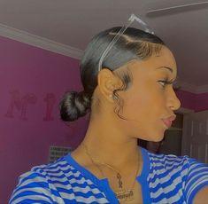 Black Girl Braided Hairstyles, Slick Hairstyles, Baddie Hairstyles, Girl Hairstyles, Quick Braided Hairstyles, Weave Ponytail Hairstyles, Girls Natural Hairstyles, Casual Hairstyles, Medium Hairstyles