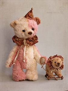 circus bear and friend