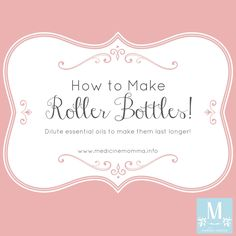 Why make roller bottles? There are so many reasons... It makes the oils so easy to apply. Just roll them on! It takes seconds. I dilute them so that they're safe for everyone in…