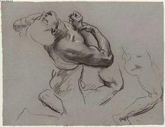 John Singer Sargent's Sketch for Gog and Magog - Falling Figure - Boston Public Library Murals