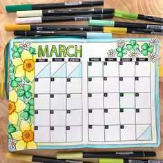 planning in my bullet journal Spring March bullet journal spread! Monthly bujo layout created with Tombow markers in a dot grid journal. Monthly bujo layout created with Tombow markers in a dot grid journal. March Bullet Journal, Bullet Journal Monthly Spread, Bullet Journal Notebook, Bullet Journal Inspo, Bullet Journal Layout, Bullet Journal Markers, Bullet Journal Birthday Tracker, Filofax, Bullet Journel
