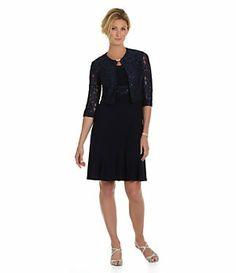 Jessica Howard Petites Rhinestone Brooch Jacket Dress | Dillard's Mobile