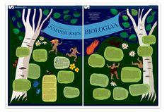 European Newspaper Award Juhannuksen biologiaa ilmestyi 19.6.2014. Sami Vainion kirjoittamassa jutussa etsittiin tieteestä selitystä juhannusyön toilailuille.   Kuvitus: Anniina Louhivuori