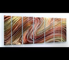 Dream Illusion - Modern Abstract Bronze/Copper Painting Metal Wall Art Sculpture By Jon Allen: Contemporary Metal Art Sculptures by Jon Allen