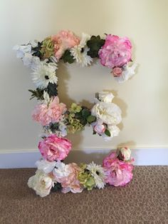 The Style Sisters: DIY Flower Letter Tutorial