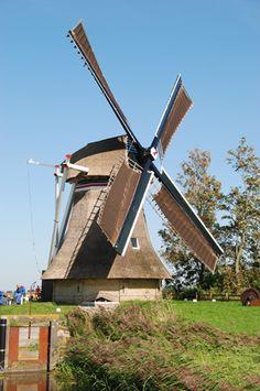 Polder mill Slachdykster Mûne / Slagdijkster molen, Finkum, The Netherlands