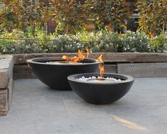 Corten steel fire bowl the pot company garden plant for Ethanol outdoor fire pit