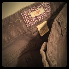 J.Crew cords. Size 12 Regular. BootCut These never go out of style. Get the now & be ready for fall. New condition grey cords from J.Crew J. Crew Pants Boot Cut & Flare