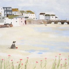 St Ives (HC83F) Beach and Coastal Print by Hannah Cole http://www.thewhistlefish.com/product/st-ives-framed-by-hannah-cole-hc83f #stives #cornwall