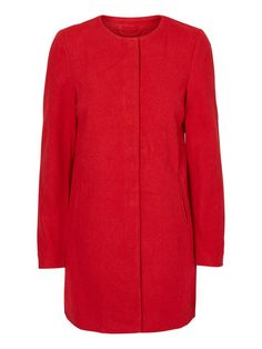Red coat from VERO MODA! Red awesomeness!