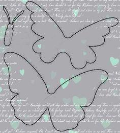 Трафареты и шаблоны для вырезания бабочки из бумаги