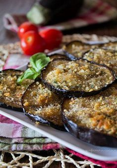 Eggplant Dishes, Eggplant Recipes, Vegetable Recipes, Vegetarian Recipes, Healthy Recipes, Veggie Delight, Italy Food, Sicilian Recipes, Chicken Wing Recipes