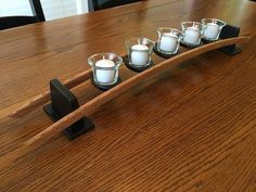 Oświetlenie Candles on a Curve - How The Medieval English Planned a Home and Gardens Modern Candle Holders, Candle Stand, Tealight Candle Holders, Candleholders, Woodworking Candle Holder, Diy Wood Projects, Woodworking Projects, Wine Barrel Furniture, Driftwood Lamp