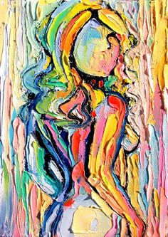 Femme 163 - 18x24 abstract nude signed Lustre print reproduction by Aja