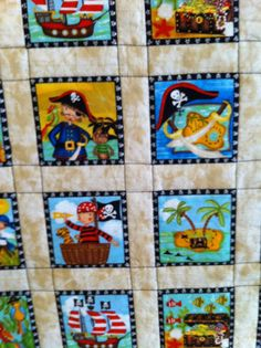 Pirate Quilt by CamilleQuilts on Etsy, $30.00