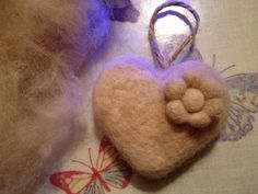 A Keepsake Heart, made from the fluff of a dog after a good ol' brushing!