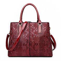 Women PU Patent Leather Elegant Handbag Shoulder Bag ea10c2fa644f7