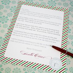 Printable Personalized Letter from Santa