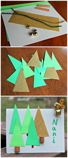 Sensory craft & DIY Christmas table decor -- fun idea for a kid-made placecards! Christmas Crafts For Kids To Make, Toddler Christmas, Easy Crafts For Kids, Christmas Activities, Preschool Activities, Christmas Books, Christmas Themes, Christmas Holidays, Christmas Gifts