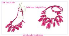 Delicious Bright Pink | Beads Creations Kralen en Sieraden Maken Alle onderdelen shop je via www.beadscreations.nl