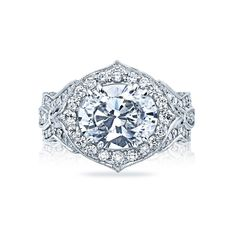 New from Tacori. Love the romantic look of the oval diamond set east to west.  Style# HT2611.  Tacori at Beverly's Jewelers.  Engaging South Florida for over 46 years!  www.bevjewelers.com