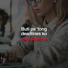 Hugot Lines Tagalog Funny, Hugot Quotes Tagalog, Tagalog Quotes Funny, Pinoy Quotes, English, Pick Up Lines, Statement Shirts, Jokes, Humor