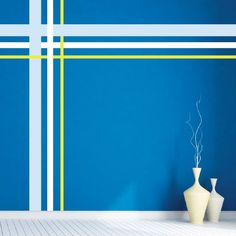 How to DIY Temporary Wallpaper Using Washi Tape - House Ideas - Striped Room, Striped Walls, Art Wall Kids, Diy Wall Art, Room Colors, Wall Colors, Wall Paint Patterns, Wall Painting Decor, Bedroom Wall Designs