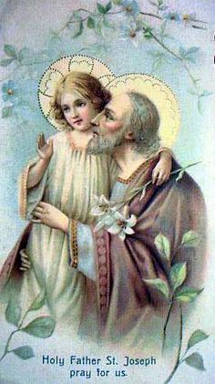 St. Joseph - Spouse of the Blessed Virgin Mary and adoptive & foster father of Jesus. A righteous man and descendant of the house of David. Feast Day - 3/19. Lord, help me to hear your word and follow your direction with care and without hesitation as Joseph did. Amen.