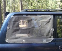 The following shows how to make Magnetic Window Screens for Car Camping using rare earth magnets, duct tape, and flexible window screening. I made it at Techshop. http://www.techshop.ws/