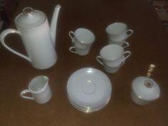 MITTERTEICH!Oma`s Kaffee-Tee Service mit Goldrand!Nr: 81!21 teilig!Wie Neu!Mitsteigern lohnt sich auch für dich!