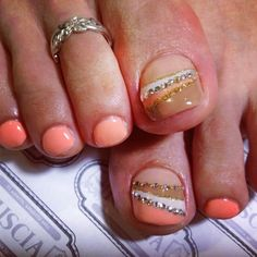 One of my favorite pedicure designs/ color combos.  I add french tips to the little toes.