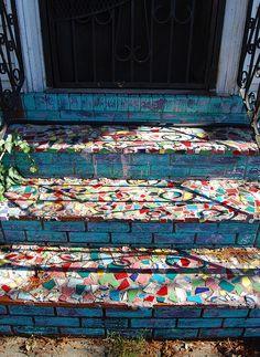 Beautiful #mosaic #stairs