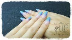 #stippling #ombre #metallicnails #gradient #luxewomen #nailextensions