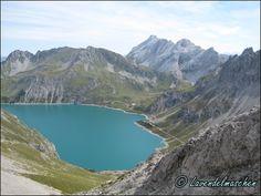 Blick nach unten auf den Lünersee/Vorarlberg Austria, Tours, Mountains, Nature, Travel, Outdoor, Bavaria, Outdoors, Naturaleza
