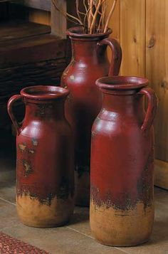 Red Clay Jugs-Set