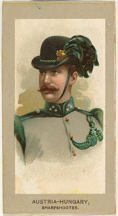Sharpshooter, Austria-Hungary, from the Military Uniforms series (T182) issued by Abdul Cigarettes