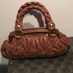 MiuMiu Bag final sale Barely used measuring by bottom 1ft wide with dust bag Miu Miu Bags