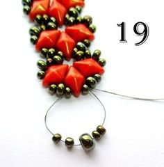 Flames Bracelet / Earrings Pattern with DiamonDuo beads | Bead-Patterns