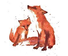 Fox Nursery FOX Print Little Brother Gift fox art by eastwitching Fox Illustration, Illustrations, Art Fox, Fox Nursery, Nursery Decor, Nursery Artwork, Woodland Nursery, Fox Pillow, Throw Pillow