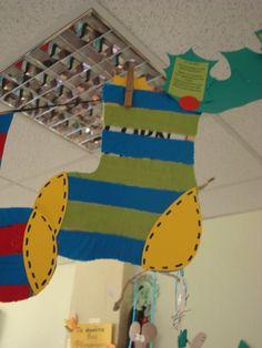 socks with cloth stripes