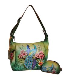 Beautiful leather painted purse.