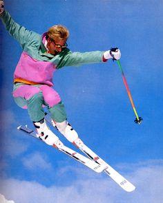 If the Slopes Could Talk: Ski Clothes Through the Decades Wallpaper Cross, Mode Au Ski, Vintage Ski Posters, Ski Bunnies, Ski Season, Ski Fashion, Snow Skiing, Neon, Workouts