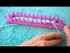 Loom Knitting Waterfall Stitch