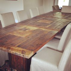 interesting tabletop pattern, for trestle table, dining ~, kitchen ~, side ~, whatever ~ !! Uses all scraps available in the workshop, as long as the edges are good !!!