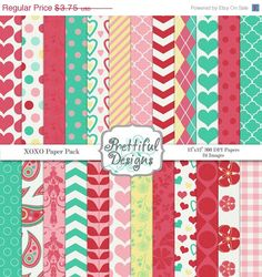 One of my best selling Valentine Paper Packs.