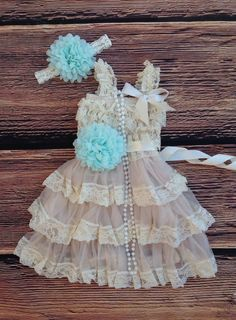 Mint Beige Lace Toddler Baby Girl Dress, Mint Beige Flower Girl Dress Toddler Vintage Dress, Rustic Country Western Wedding, Beach Wedding